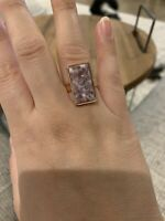 Lavendar Opal Rose Gold Ring Size 8 Plated