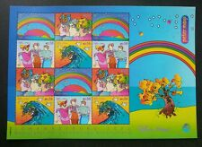 United Nation Peter Max 2002 Rainbow Tree Bird Costume Cartoon (sheetlet) MNH