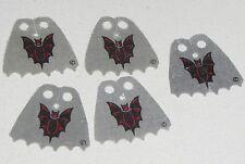 LEGO LOT OF 5 USED BAT FRIGHT KNIGHT CAPES CLOTH PARTS
