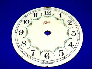 "Vintage Schatz 4"" Porcelain Clock Dial Face made in Germany"