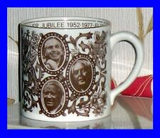 SILVER JUBILEE MUG 1952-1977 THE QUEENS PRIME MINISTERS THE OBSERVER EXC EDITION