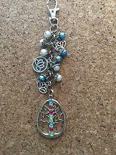 Lotus Flower Tree Of Life Keychain Purse Charm Keychain
