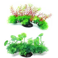 FJ- EG_ FM- Artificial Water Grass Lotus Leaf Aquarium Plant Fish Tank Ornament