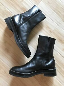 ANN DEMEULEMEESTER Black Dress Combat Boots Made In Italy Size US 8 / EU 39) EUC