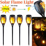 4Pack Solar Torch Flame Dancing Light LED Flickering Flame Lamp Outdoor Garden