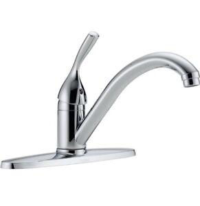 Delta Classic Single Handle Chrome Kitchen Faucet 100-DST