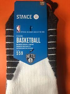 Stance 559 NBA Brooklyn Nets Basketball Crew Socks KD Kyrie XL 12-15