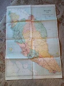 1948  Large Map Of Malaya