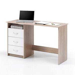 Schreibtisch Adria Jugendzimmer Computertisch Sonoma Eiche weiß 120x50