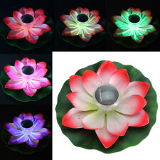 Floating Lotus Fake Flower Water Lily Garden Fishpond Plant Decor Outdoor Art