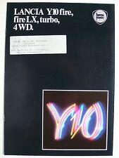 Prospekt Lancia y 10 Fire/LX, Turbo, 4 WD, aprox. 1987, 10 páginas
