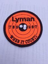 Lyman When It Counts Hunting Gun Bullets Patch Free Shipping Worldwide!!