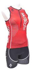 Panache skratch LABS Sleeveless Tri Kit Women SMALL Red Black Singlet + Shorts