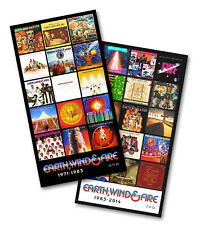 """EARTH, WIND and FIRE twin pack discography magnet set (two 4.5"""" x 3.5"""" magnets)"""