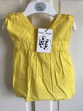 BNWT Fred & Ginger Sleeveless Top. Girls. Age 0 - 3 Months. Bright Yellow