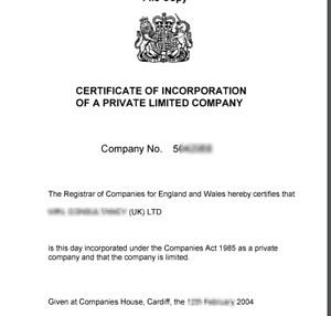 INFO: 2004 Dormant Limited Company
