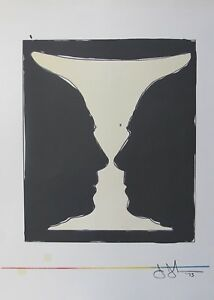"Jasper Johns ""CUP TWO PICASSO"" 1973 Plate Signed Lithograph Art XXe Siecle Paris"