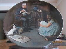 THE STORYTELLER PLATE - ROCKWELL HERITAGE COLLECTION - NORMAN ROCKWELL - KNOWLES