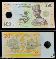 Brunei Polymer Banknote 20 Ringgit 2007 Prefix A/1 UNC