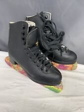 Jackson Glacier Ice Skate Size 2 Black 252 Figure Skating Youth Girls