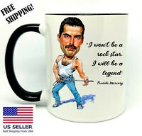F. Mercury, Birthday, Halloween, Christmas Gift, Black  Mug 11 oz, Coffee/Tea
