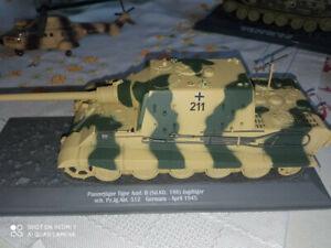 Char PANZERJAGER TIGER AUSF.B.SD.KFZ- GERMANY- APRIL 1945 en résine -