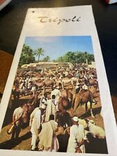 Vintage Tourist Guide And Street Map Tripoli