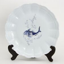 A. Giraud Limoges France, Fischdekor , Platzteller / Teller Nr5