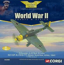 CORGI AVIAZIONE aa32505 Junkers Ju 87B Stuka 6 STG 77 Graz,Austria,1941 LE 0009