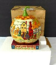 Jim Shore halloween Count Your Blessings Pumpkin 118757 new original store close