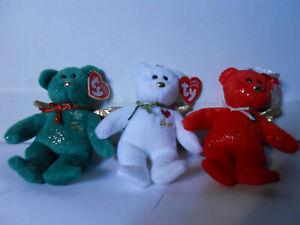 Set of 3 Love Joy Peace TY Christmas Jingle Beanie Gift