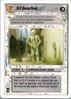 Star Wars White Border CCG Card CZ-3 (Seezee-Three)