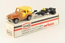 Majorette 318 US Jeep + Formula Car Texaco Box Vintage France Die Cast