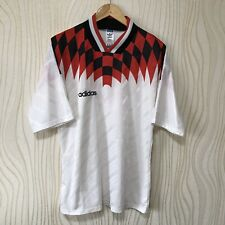 ADIDAS 90s FOOTBALL SHIRT SOCCER JERSEY ADIDAS WHITE VINTAGE RARE