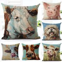 "Cute Animals Cushion Cover Sofa Home Decor Pet Dog Pattern Throw Pillow Case 18"""