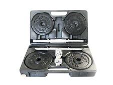 Toorx Valigetta Pesi Ghisa 20 Kg Kit 2 Manubri Componibili + Dischi foro 25 mm