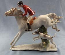 Reiter Pferd hund Kaiser Figur porzellan porzellanfigur