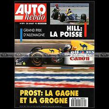 AUTO HEBDO N°891 DAMON HILL EMERSON FITTIPALDI MICHAEL SCHUMACHER F3000 1993