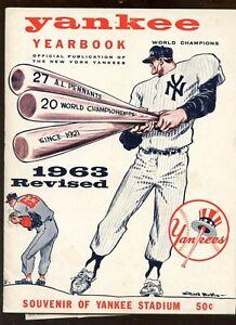 1963 MLB New York Yankees Revised Yearbook EX