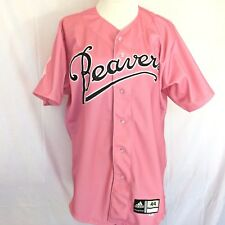 PORTLAND BEAVERS Pink Baseball Jersey SZ 44 Breast Cancer Awareness #1 ADIDAS