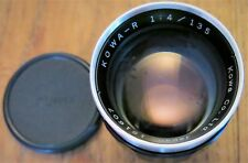 KOWA-R 135/f 1:4 Lens comes with front and rear caps + Case