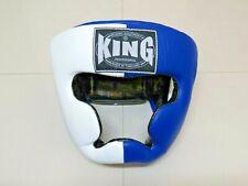Casques de boxe KING Bleu/Blanc XL cuir veritable (Fairtex, TWINS, Yokkao)