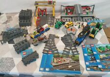Gros Lot LEGO CITY TRAIN 60052 + GARE 60050 + 7499 + 7895 TBE COMPLET