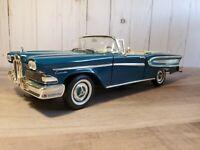 Road Legends 1958 Edsel Citation Convertible 1:18 Scale Die Cast Model Car Blue
