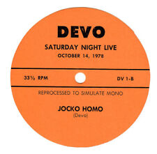 DEVO 1978  Saturday Night Live Jocko Homo Record Label (label only - no disc)