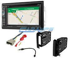 "NEW 6.2"" POWER ACOUSTIK DOUBLE DIN STEREO GPS NAVIGATION BLUETOOTH INSTALL KIT"