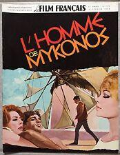 Magazine LE FILM FRANCAIS L'HOMME DE MYKONOS Gabriele Tinti Anne Vernon  1966*