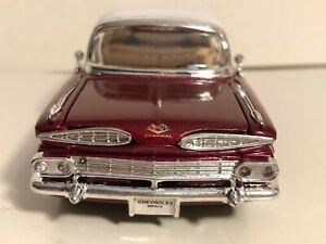 "SUNNYSIDE 1959 CHEVY IMPALA BURGUNDY 1:32 DIECAST MODEL CAR 5.5"" NEW NO BOX"