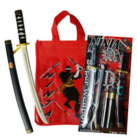 Ninja Play Set Plastic Sword Kids Show Bag Gift Pack Party Favor Costume Showbag