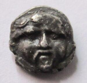 Silver-Obol of Selge in Pisidia        Rv. helmeted head of Athena right